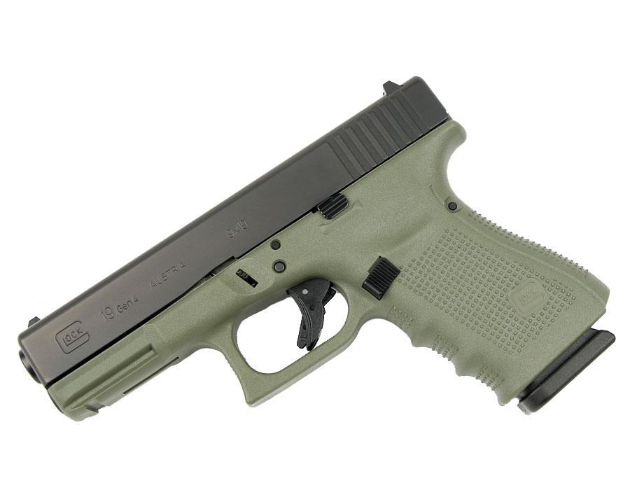 Glock 19 GEN 4 9mm - Battlefield Green