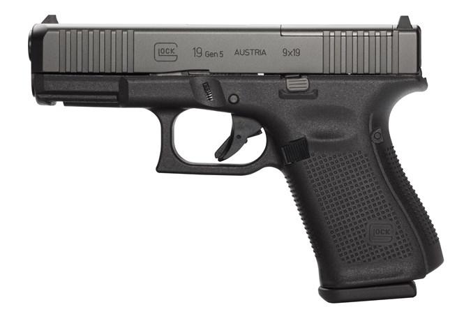 Glock 19 GEN 5 MOS 9mm - Black 10RND