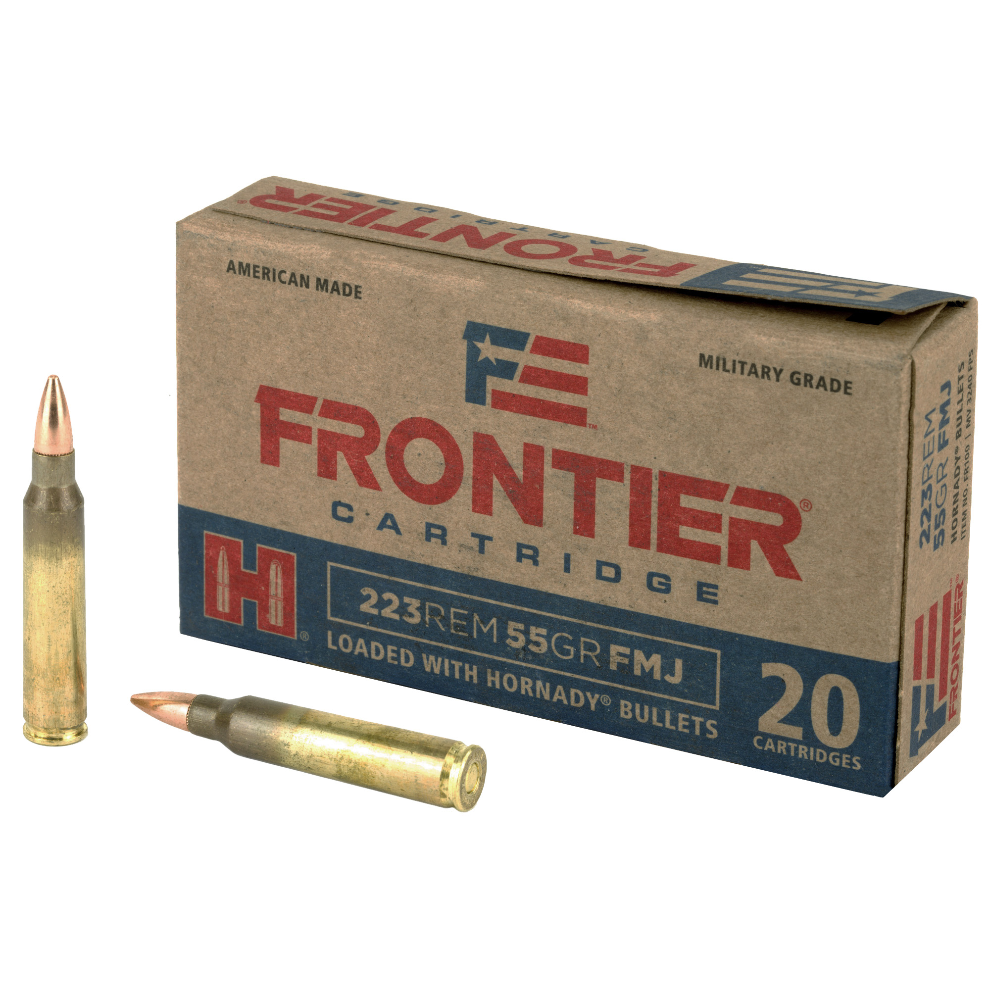 Frontier Cartridge 223 Rem 55 gr FMJ - 20 Round Box