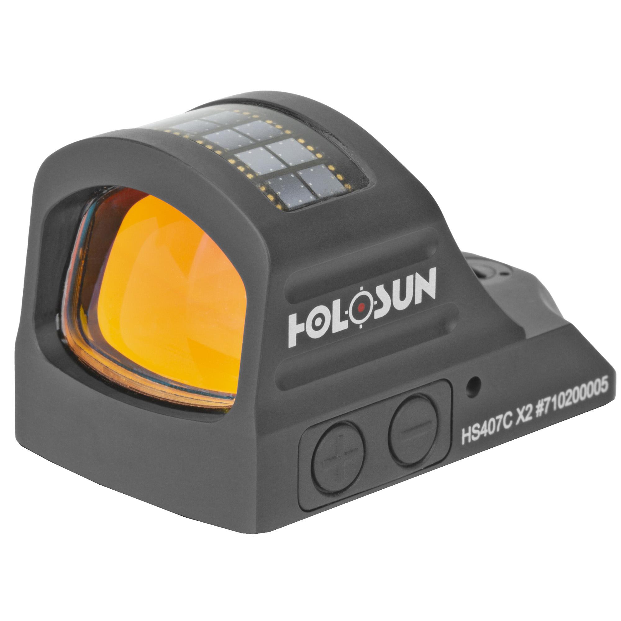 Holosun HS407C-X2 HS 407C-X2 Pistol 1x 2 MOA Red Dot Black Anodized Pistols