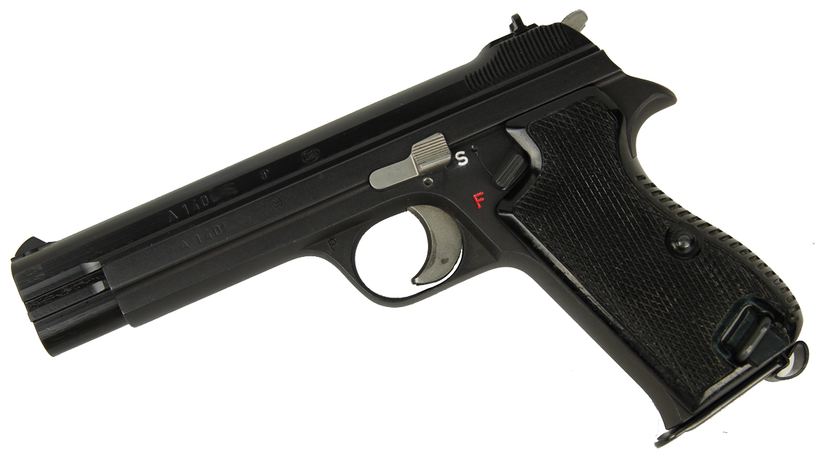 Sig P210 9mm - Swiss Police - USED BLACK GRIPS - Left