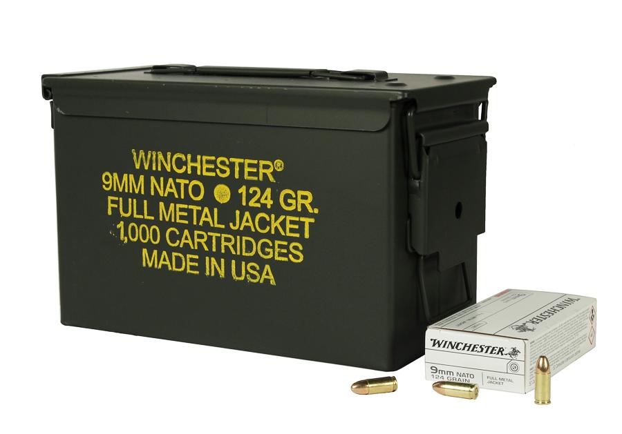 Winchester 9mm NATO 124 GR. FMJ