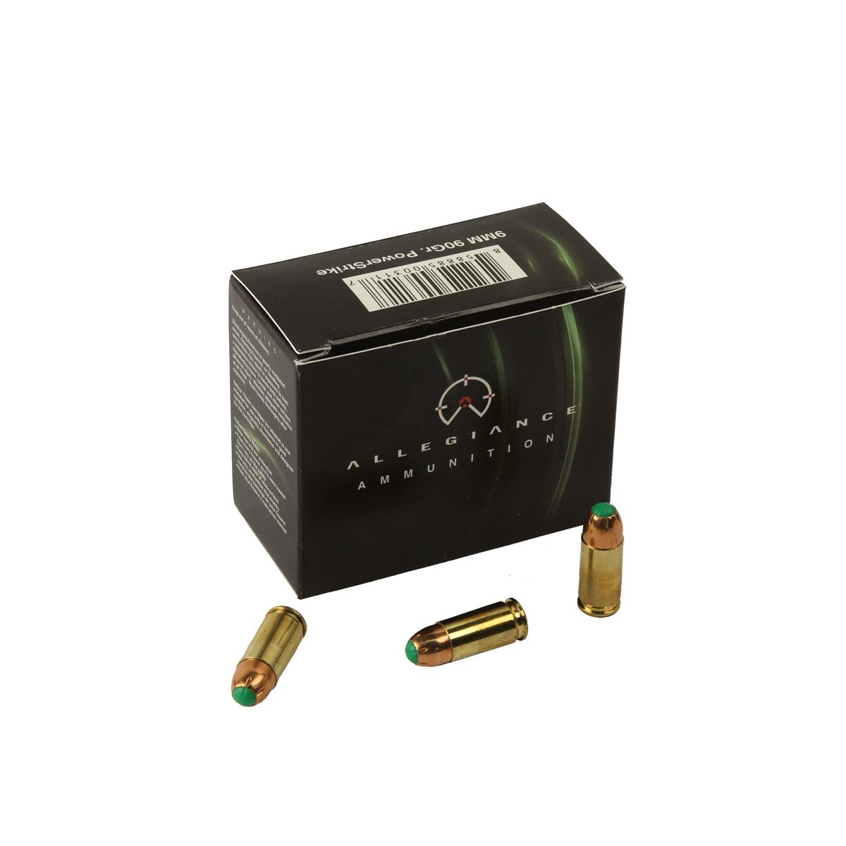 Allegiance Ammunition 9mm Luger 90 GR. PowerStrike - 20RD