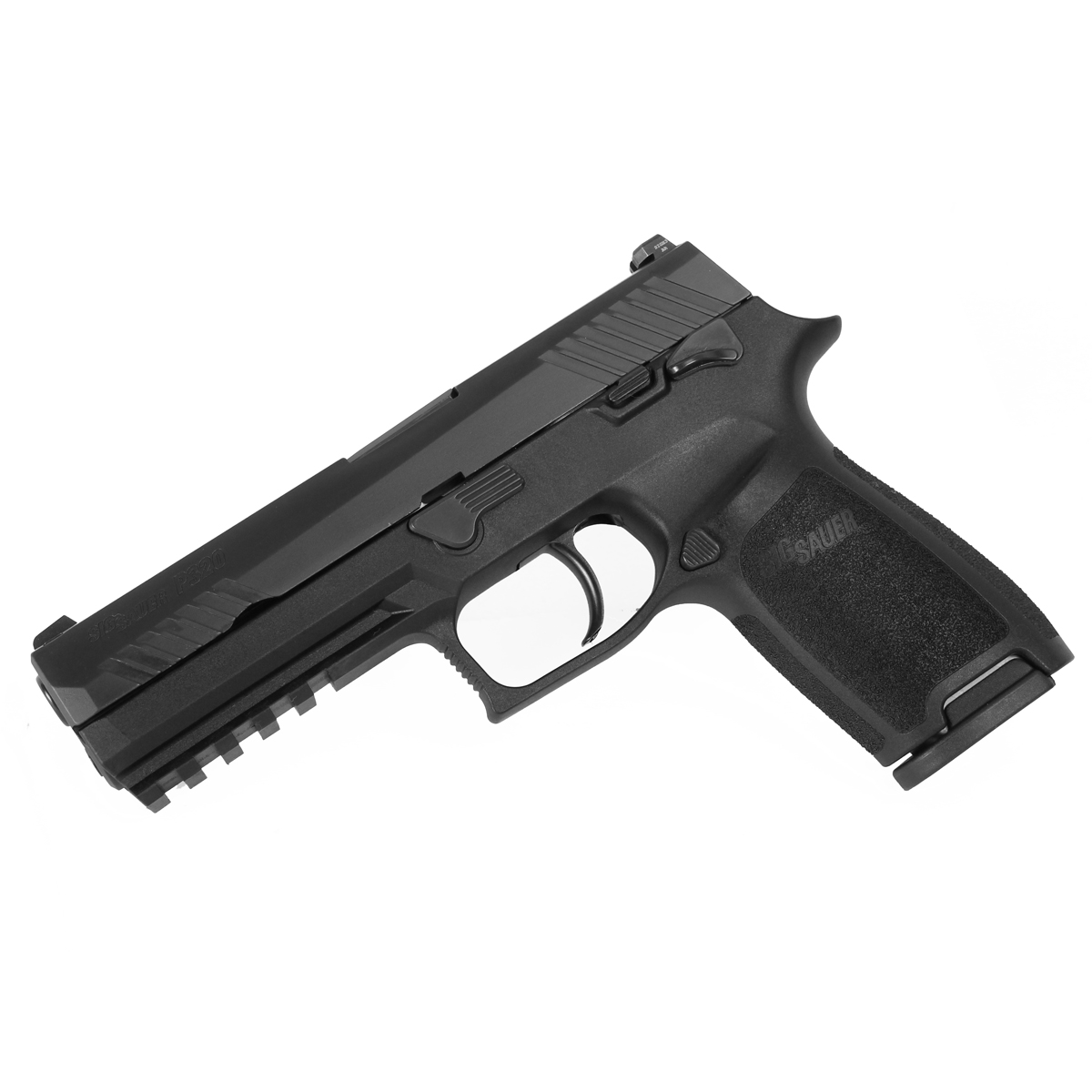 Sig Sauer P320 Full Size, 9mm, Nitron, SigLite Night Sights, Manual Safety