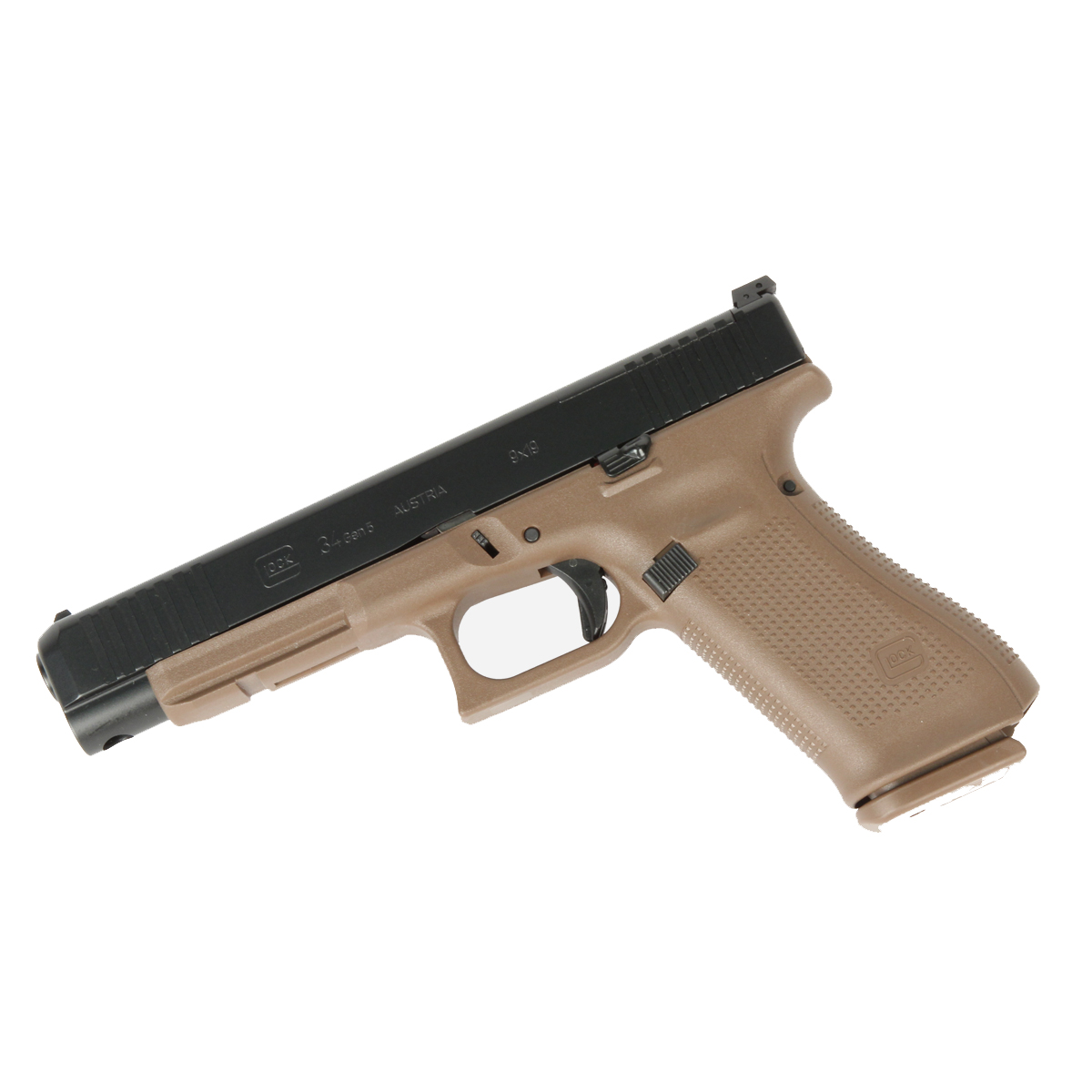 Glock 34 GEN 5 MOS 9mm - Flat Dark Earth - Front Serrations