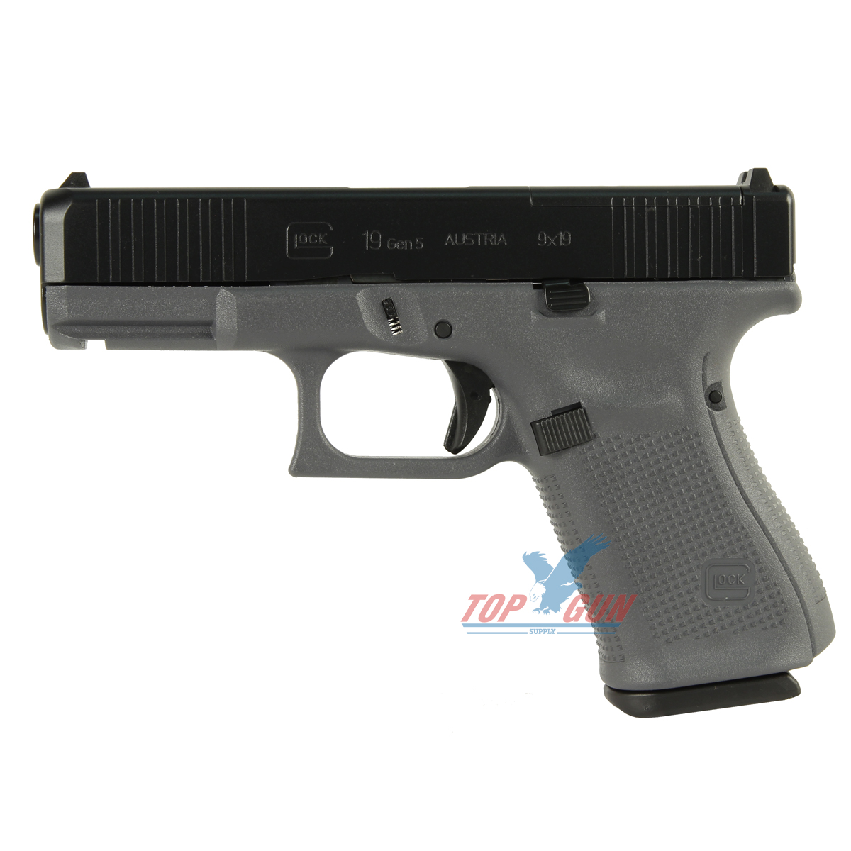 Glock 19 GEN 5 MOS 9mm - Gray 10RND