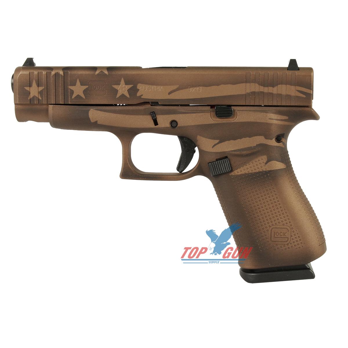 Glock 48 9mm - Battleworn Bronze Distressed Flag