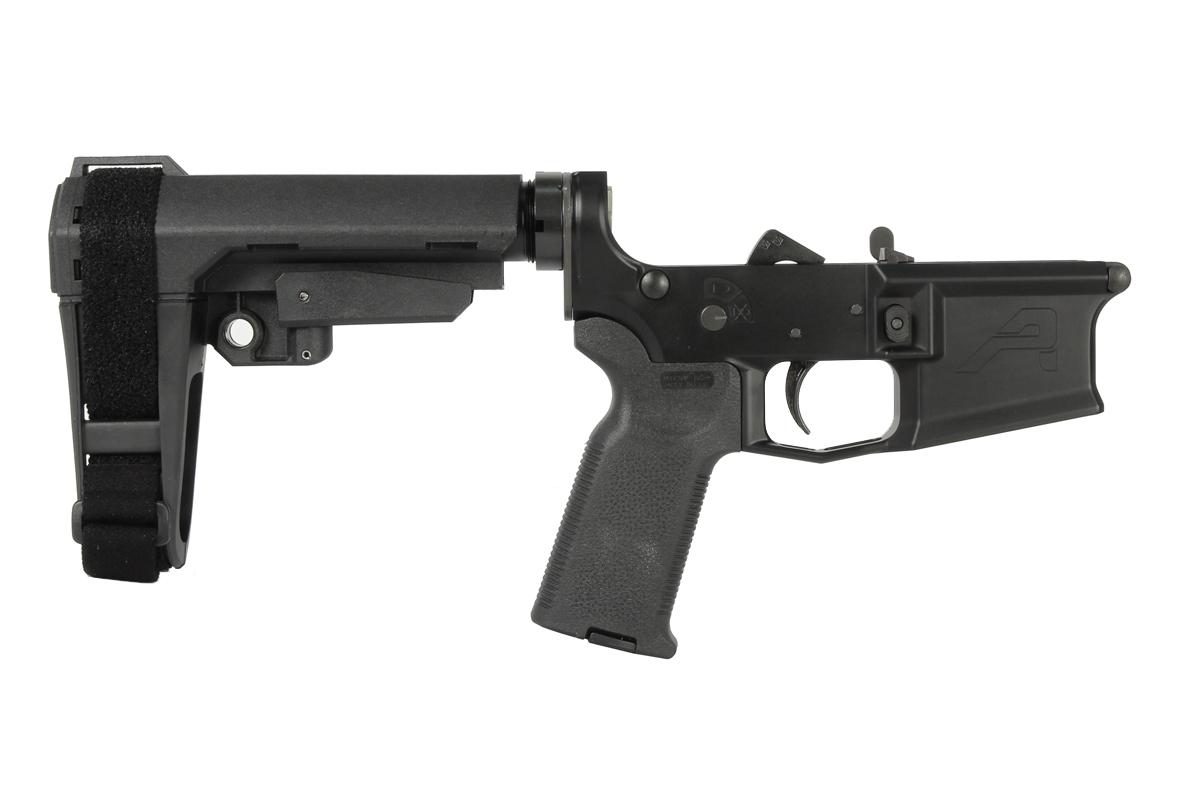 Aero Precision M4E1 Pistol Complete Lower Receiver MOE-K2 Grip, SBA3 Brace - BLK