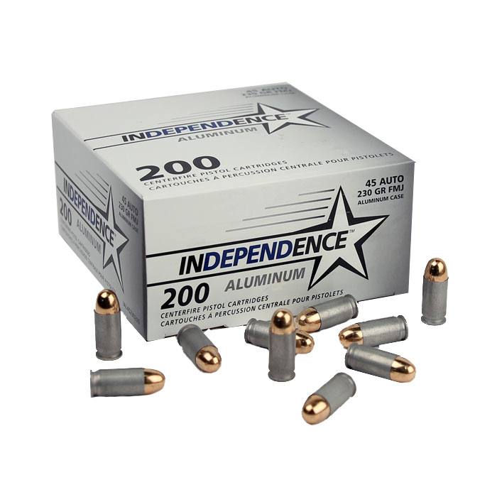 Independence .45ACP 230 GR. FMJ - Aluminum - 200RD