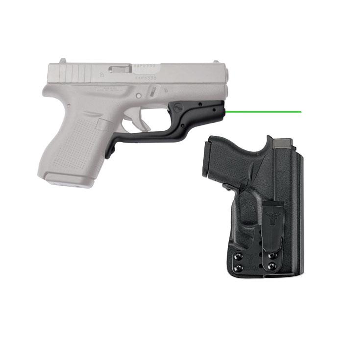 Crimson Trace Laserguard W/Bladetech IWB Holster - For Glock 43/42 - Green