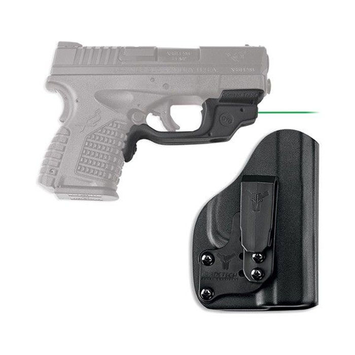 Crimson Trace Laserguard W/Bladetech IWB Holster - Springfield Armory XDS - Green