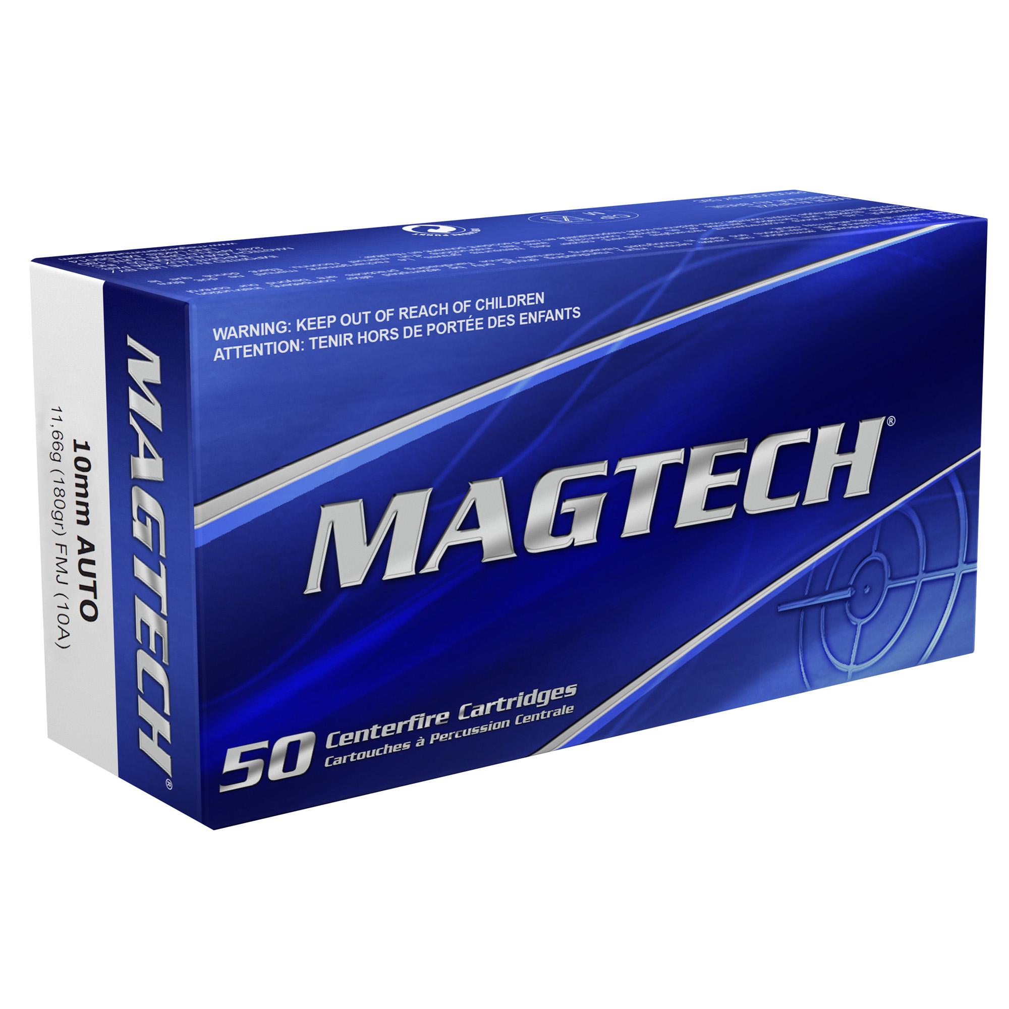 Magtech 10A Range/Training 10mm Auto 180 gr Full Metal Jacket (FMJ) 50 Bx