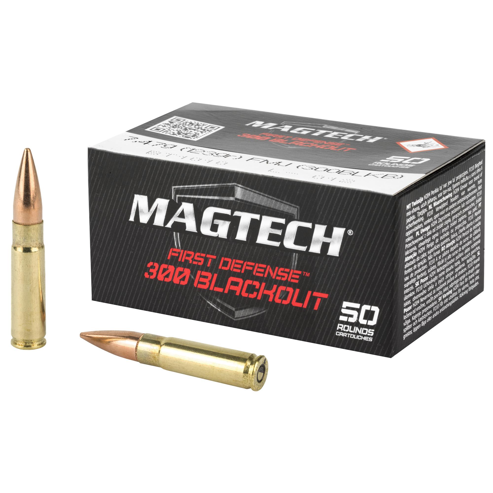 Magtech 300BLKB Tactical/Training 300 Blackout 123 gr Full Metal Jacket (FMJ) 50 Bx