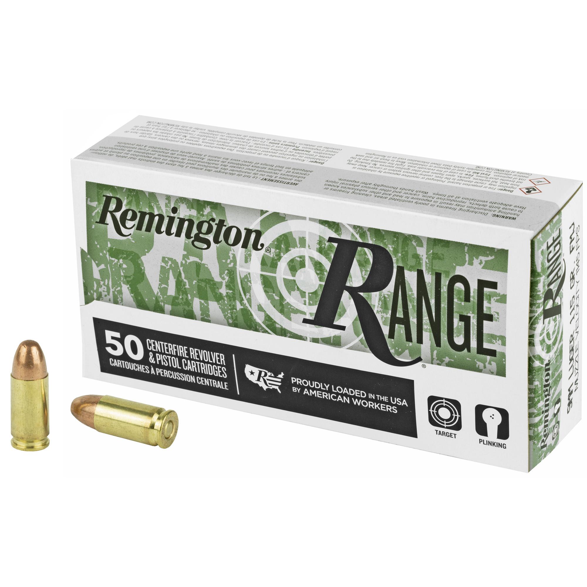 Remington Ammunition 28564 Range 9mm Luger 115 gr Full Metal Jacket