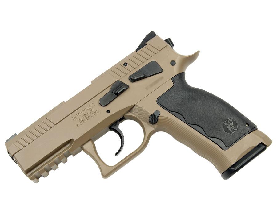 SPHINX SDP Compact, 9mm, Iron Sights, DA/SA - Sand