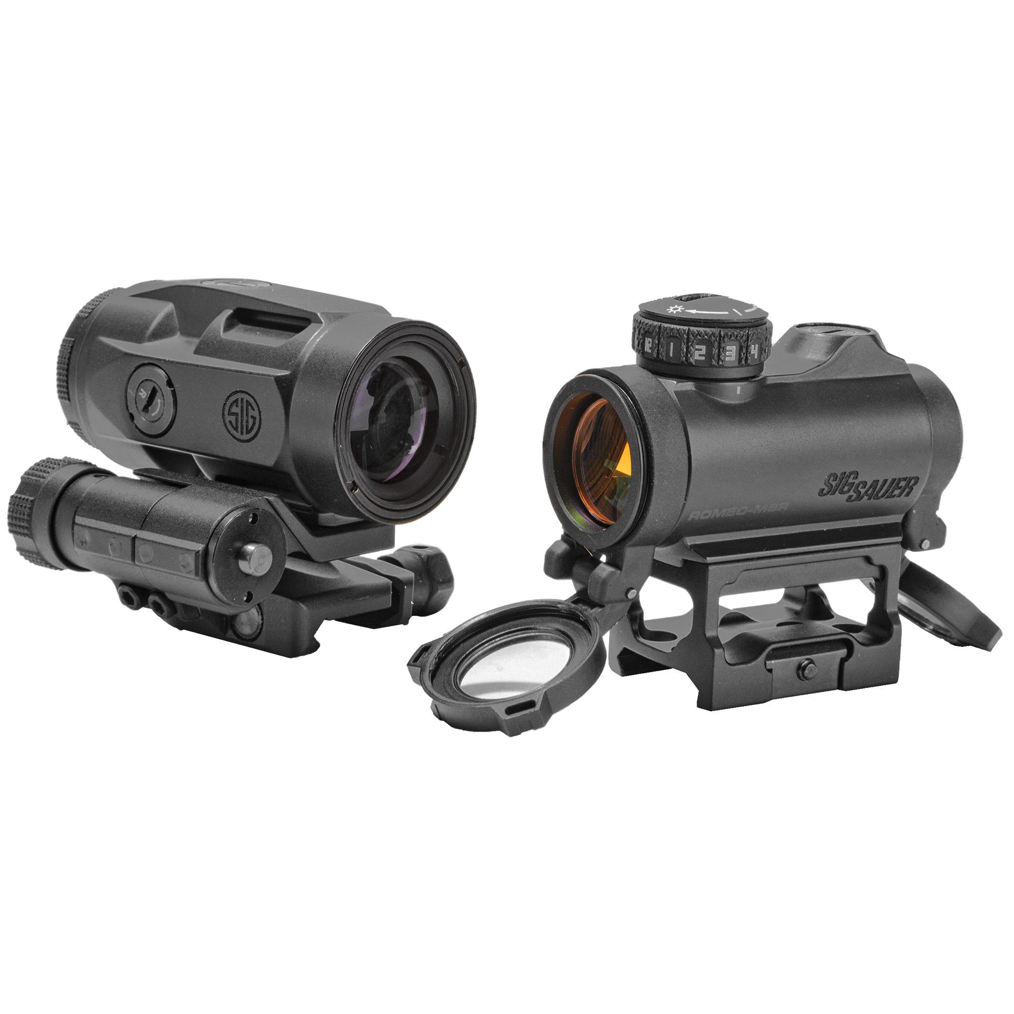 Sig Sauer Electro-Optics SORJ72001 Romeo-MSR/Juliet3 Micro Combo 1x20mm/3x20mm 2 MOA Red Dot Black