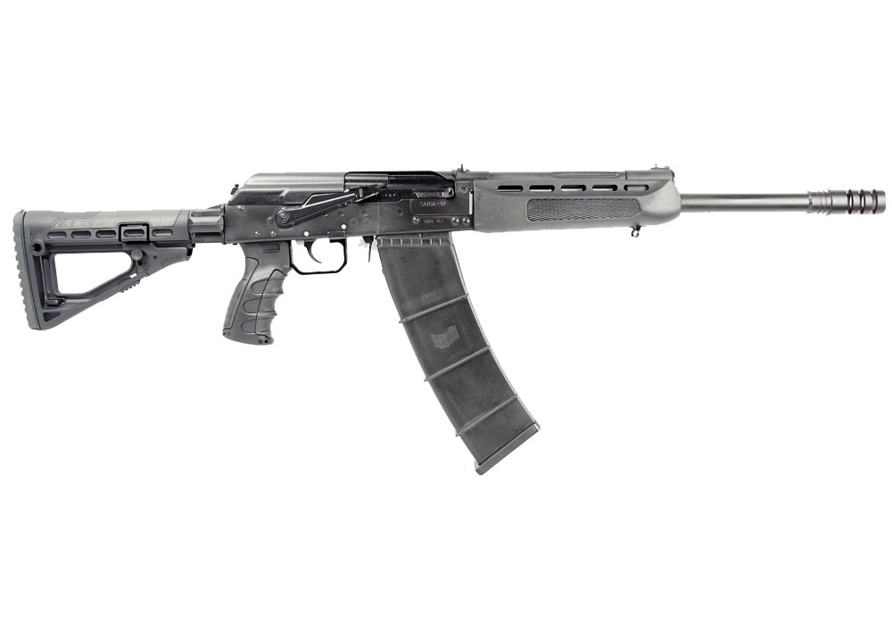 Izhmash Saiga 12 Semi-Automatic Tactical Shotgun, 12 Gauge - BLK