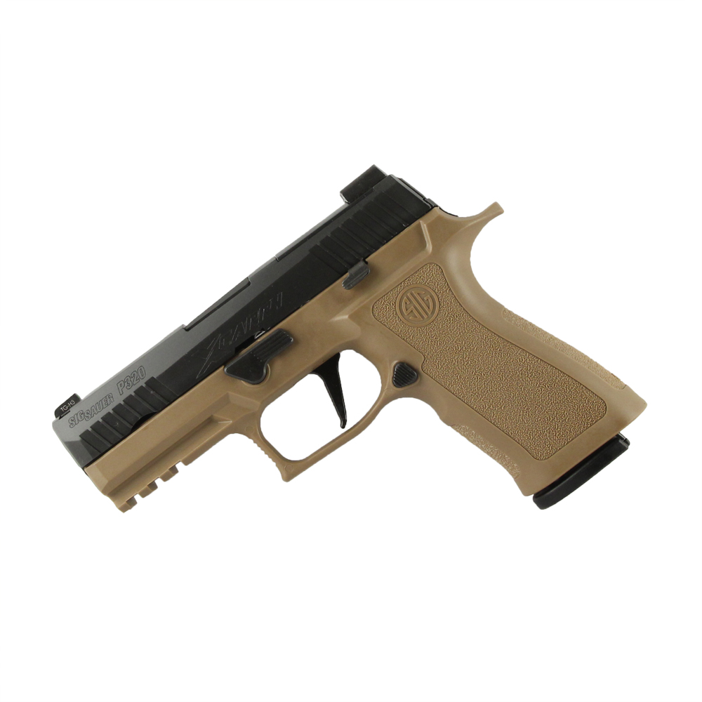 Sig Sauer P320 X-Series, X-Ray 3 Sights, Striker-Fired, Coyote Polymer Grip, Reverse Two-Tone - 9mm
