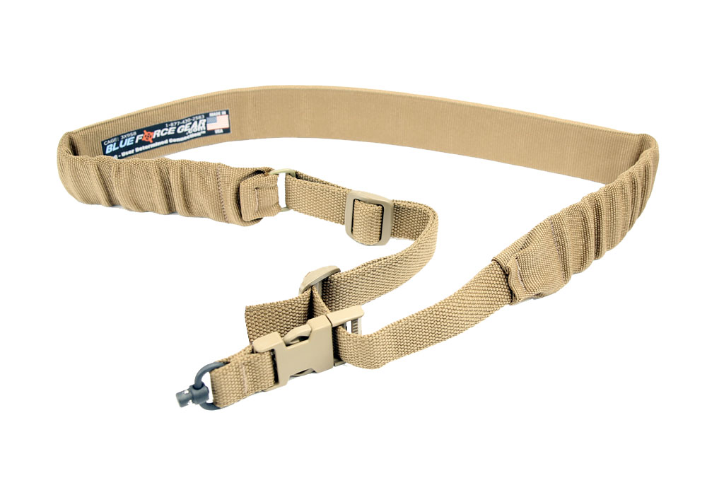 Blue Force Gear UDC One Point Padded Bungee Sling - Push Button Adapter - Coyote Brown