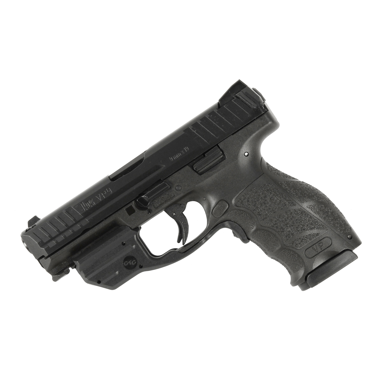 H&K VP9-B, Striker Fired, Fixed Sights, 9mm - Black - Red Laser