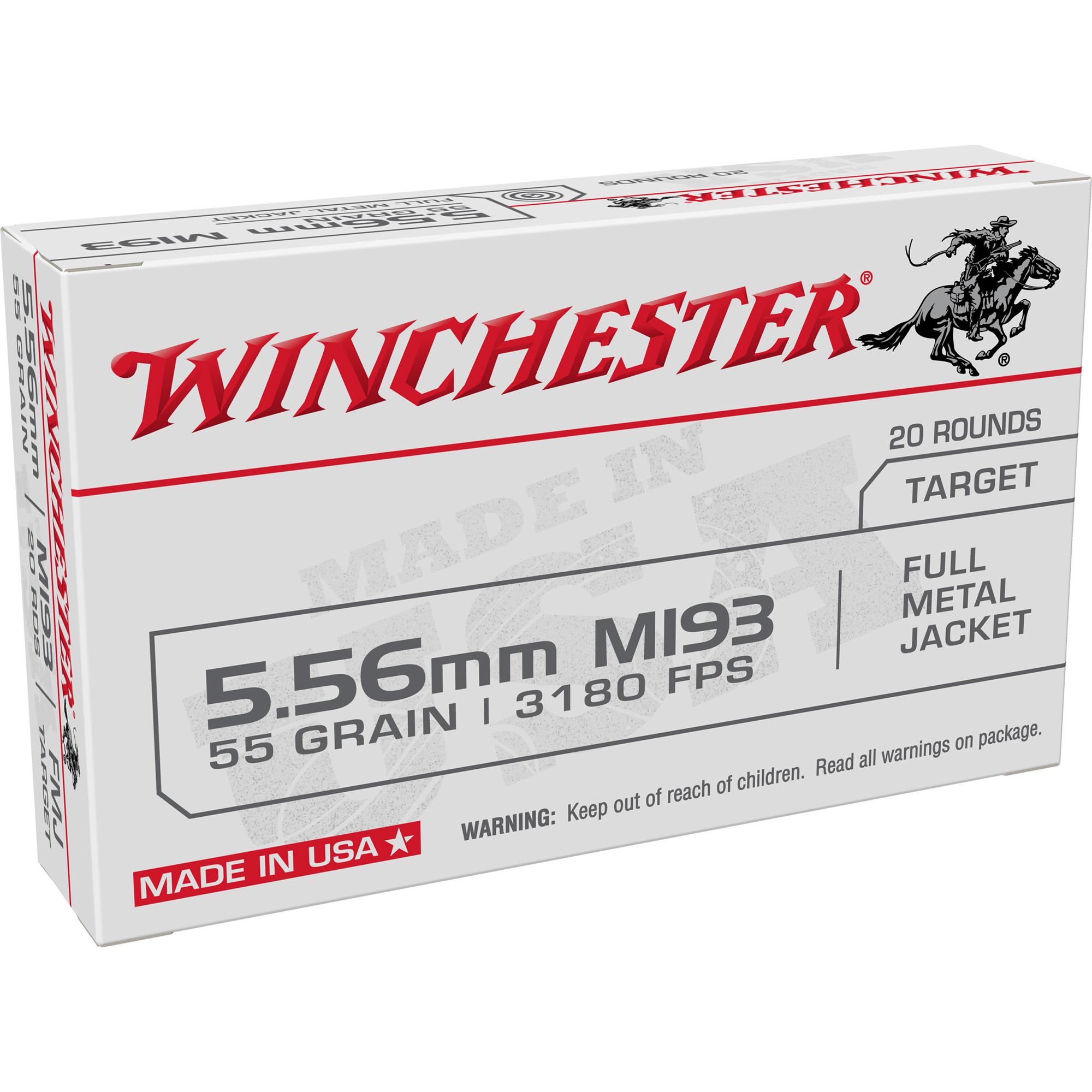 Winchester Ammo WM193K USA 5.56x45mm NATO 55 gr Full Metal Jacket