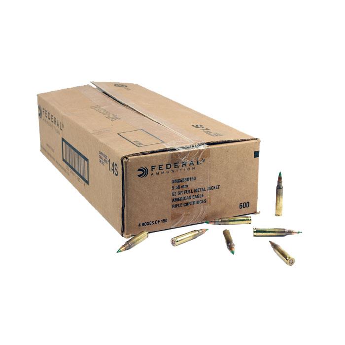 Federal Lake City M855 5.56mm 62GR FMJ - 600RD Case