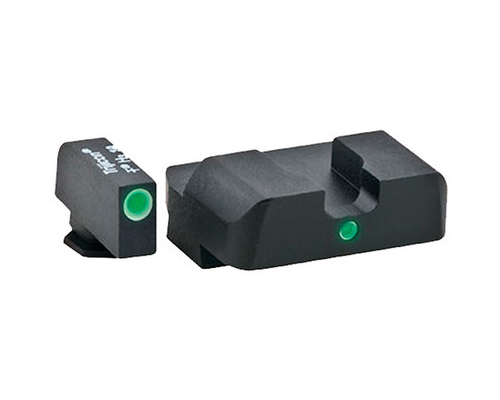 Ameriglo Tritium Night Sight Set - i-Dot - Glock 10mm, .45, .357 - Green/Green