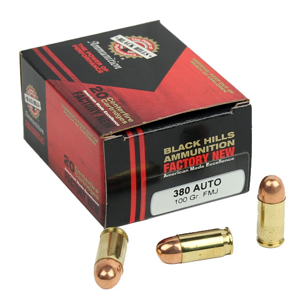 Black Hills .380 Auto 100 GR. FMJ - 20RD - Factory New