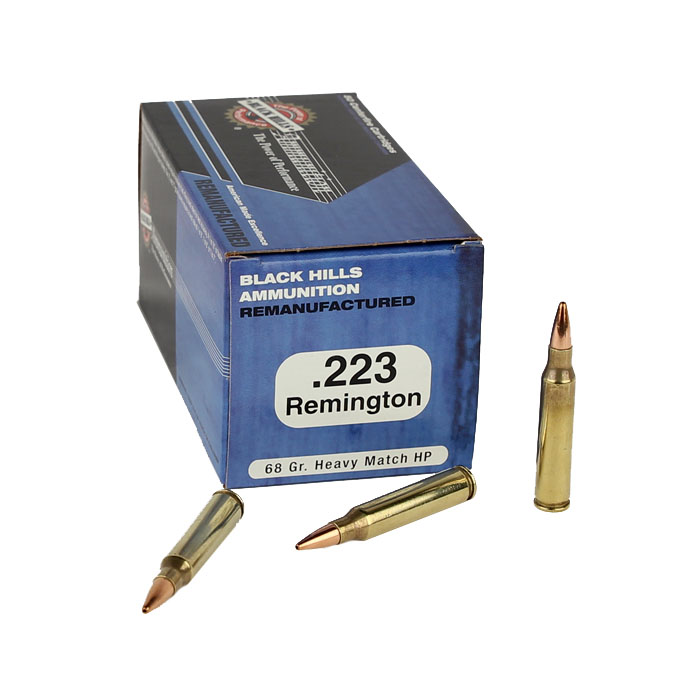 Black Hills .223 Rem 68GR. Heavy Match HP - Remanufactured - 50RD