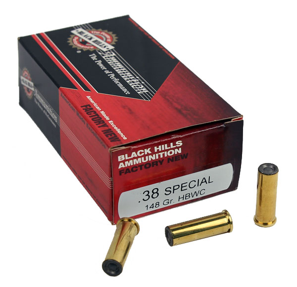Black Hills .38 Special 148 GR. HBWC - 50RD - Factory New