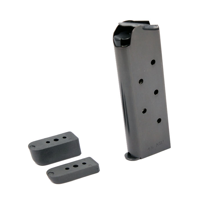Check-Mate .45ACP, 7RD Compact, Bumper Pads - Officer's Size 1911 Magazine