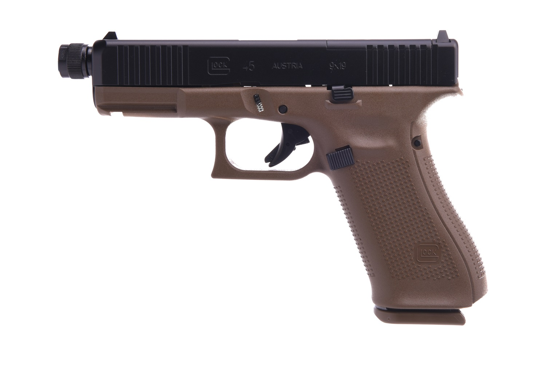 Glock 45 MOS 9mm Gen 5 Threaded Barrel - FDE
