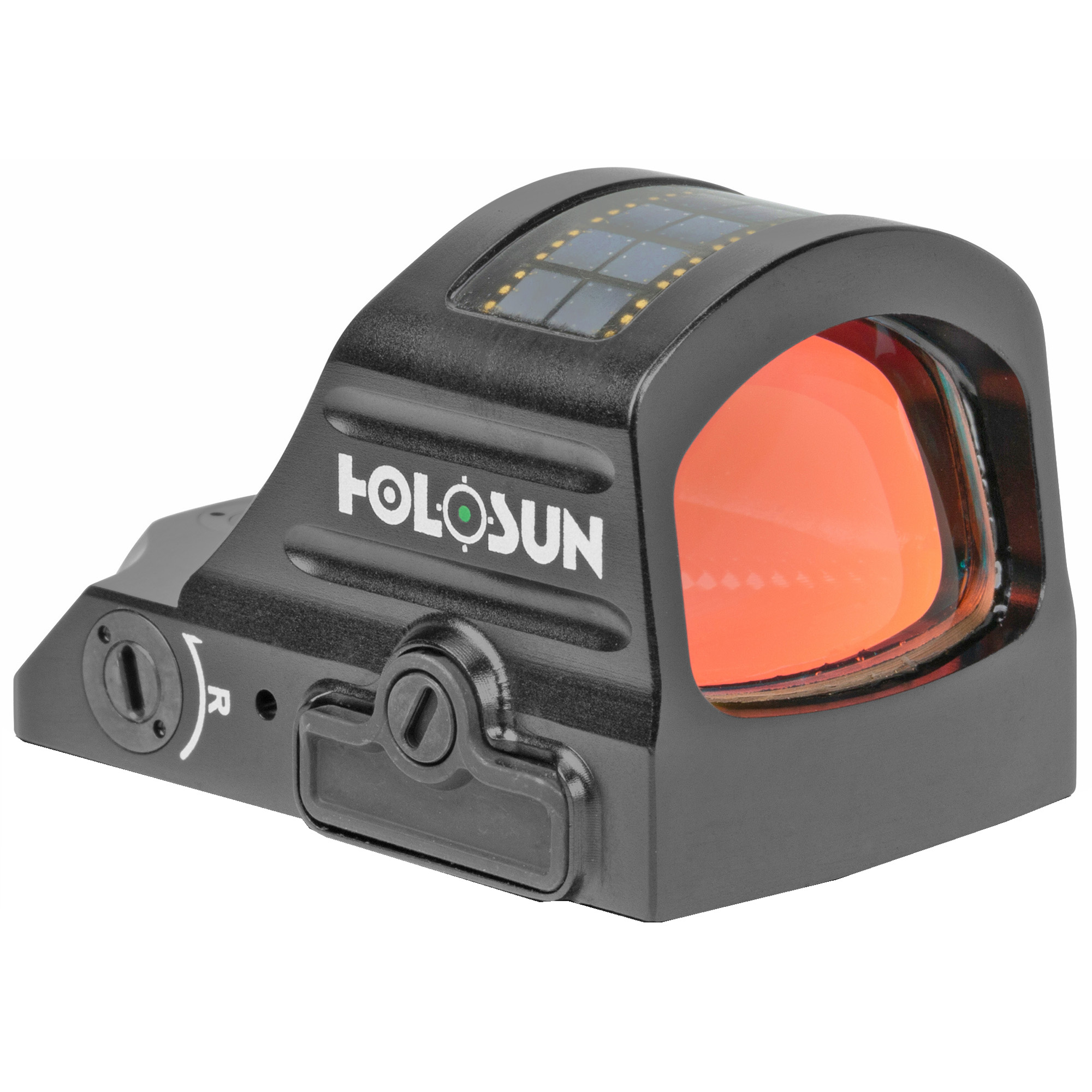 Holosun Technologies, 507C-GR-X2, Green Dot, 32 MOA Ring & 2 MOA Dot, Black Color, Side Battery, Solar Failsafe, Mount Not Included