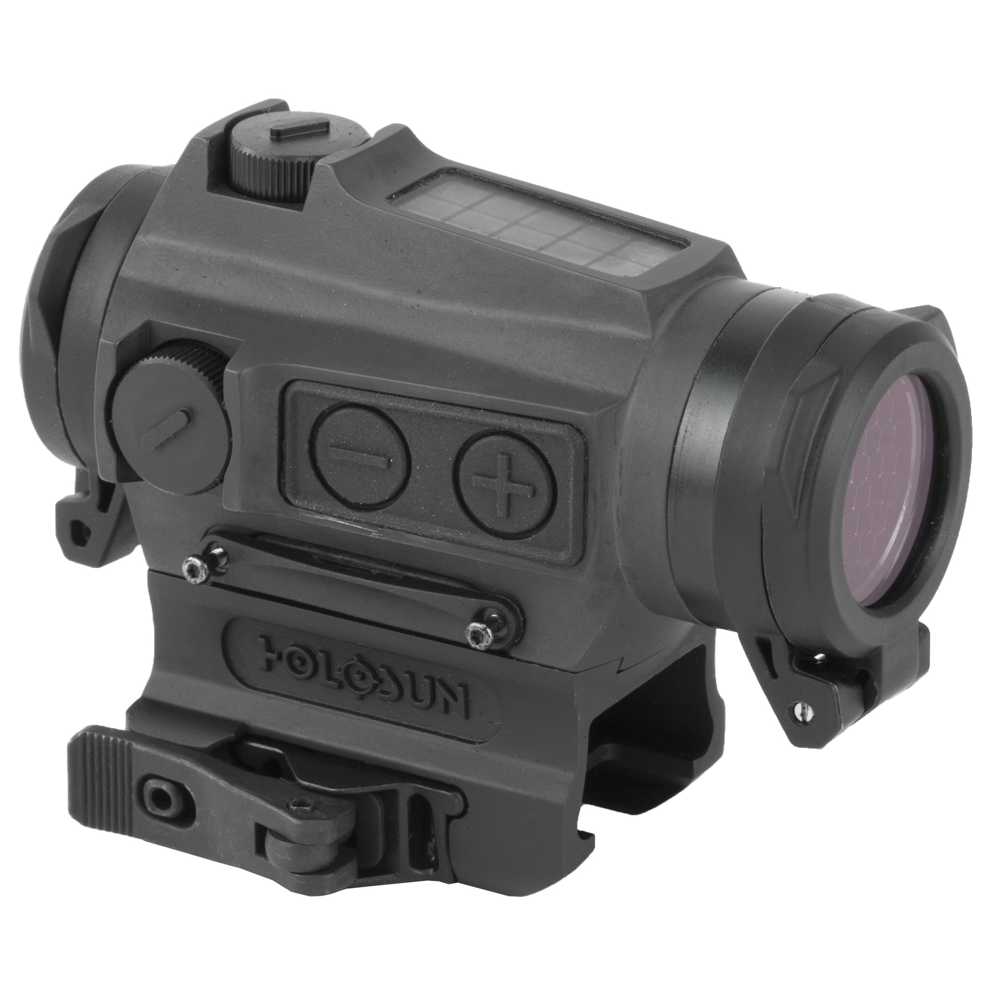 Holosun HE515CT-RD, Micro Titanium Red Dot, Red Reticle, Three Different Reticles, Solar, QD Mount, Black