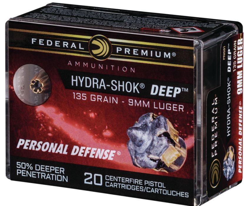 Federal Premium Hydra Shok Deep 135GR 9mm