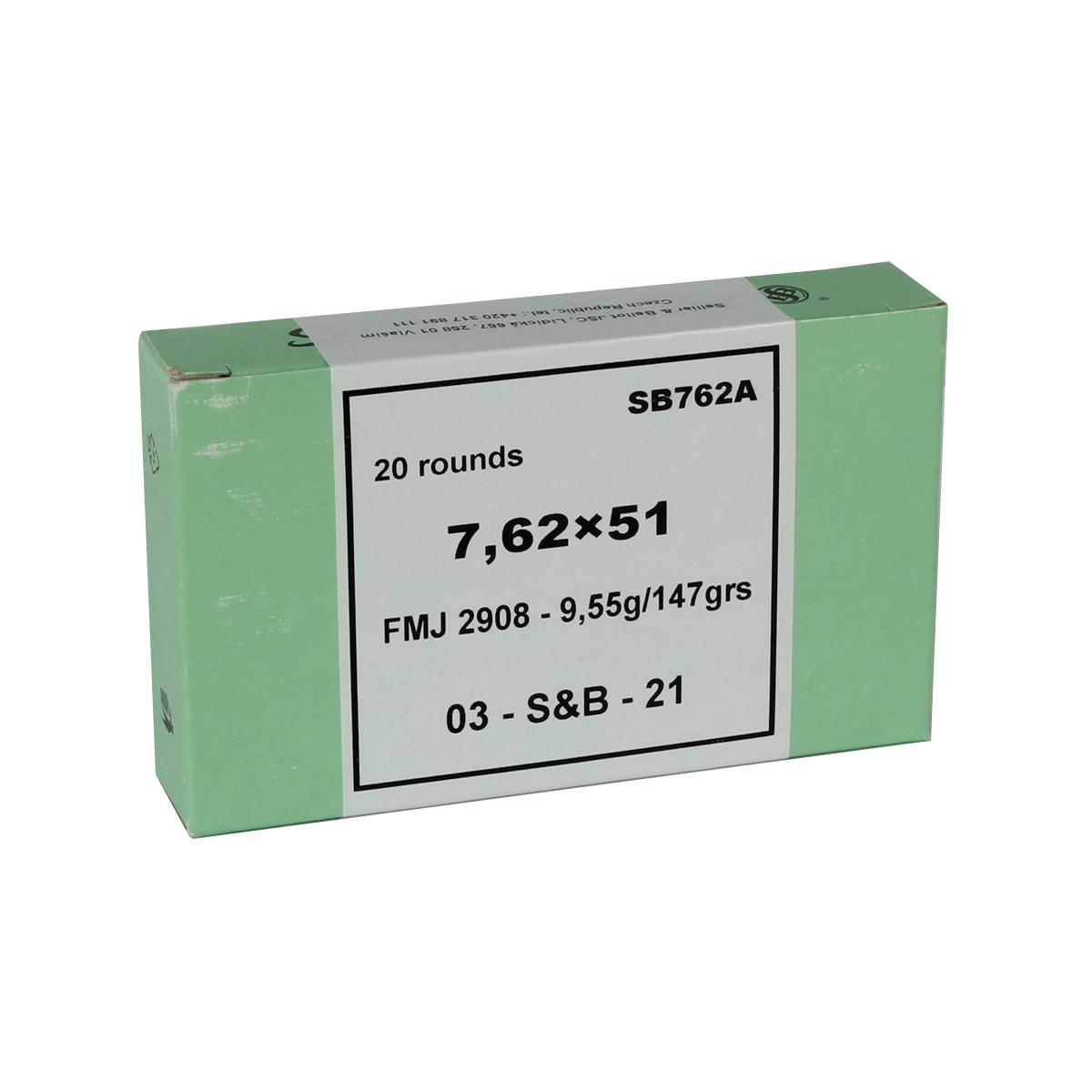 Sellier & Bellot 7.62x51mm 147 GR. FMJ - 20RD