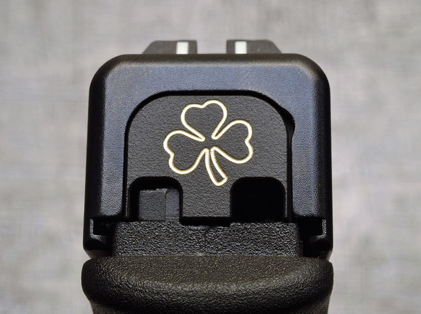 Milspin Custom Back Plate - Standard - Black on Brass
