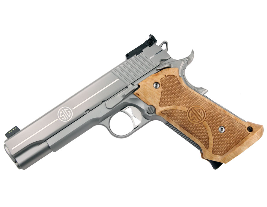 Sig Sauer 1911 Stainless Super Target, .45ACP, Adjustable Sights