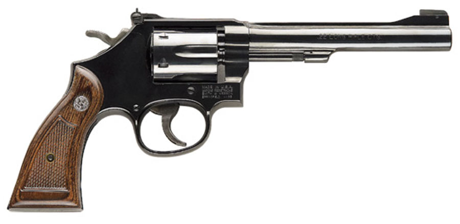 Smith & Wesson Model 17 Masterpiece, Six Shot, 6 inch .22LR - Blue