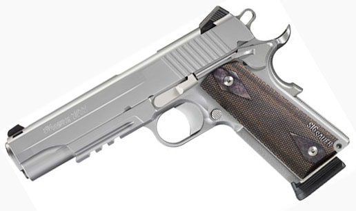 Sig Sauer 1911R, .45ACP, Stainless Steel, Night Sights, Rail