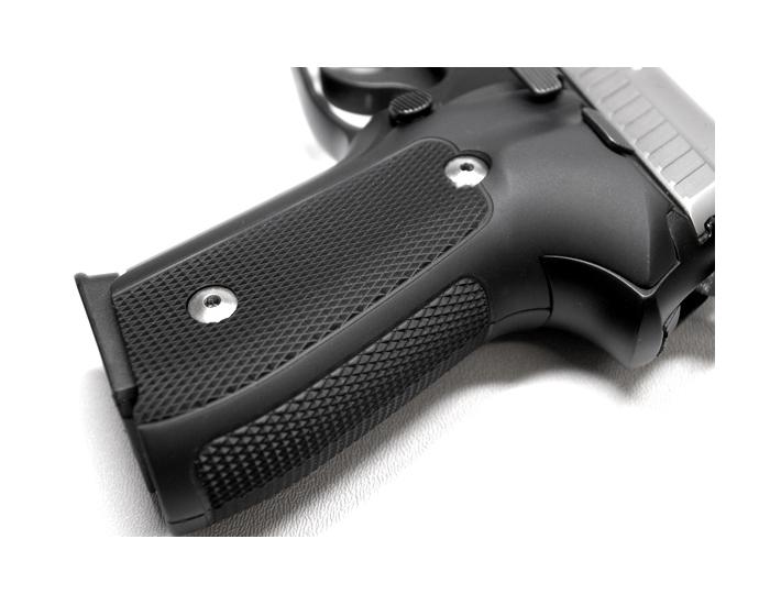 Hogue Extreme Aluminum Grips P226 - CHECKERED MATTE BLACK