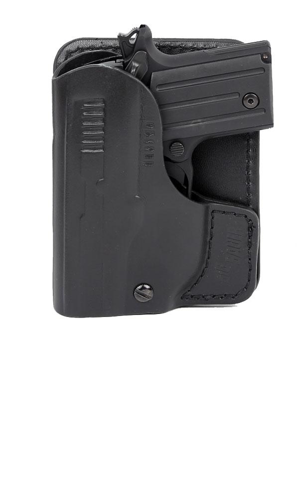 SIGTAC P238 Pocket Holster - Black Leather - Right Hand