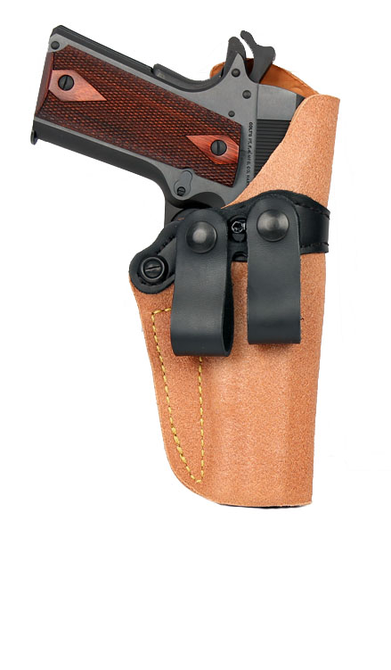 Gould & Goodrich Inside Trouser Holster 808, Right Hand, BROWN - GLOCK 19,23,32
