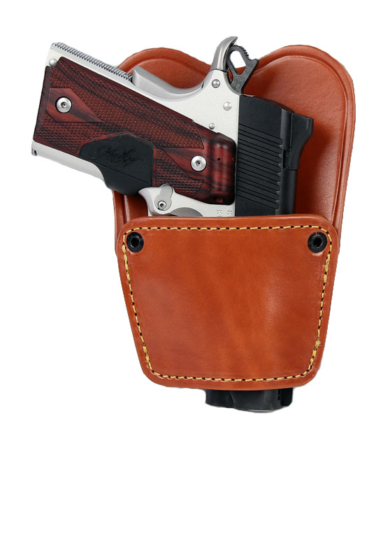 Gould & Goodrich Ambidextrous Belt Slide Holster, BROWN - 1911/UNIVERSAL SMALL AUTO