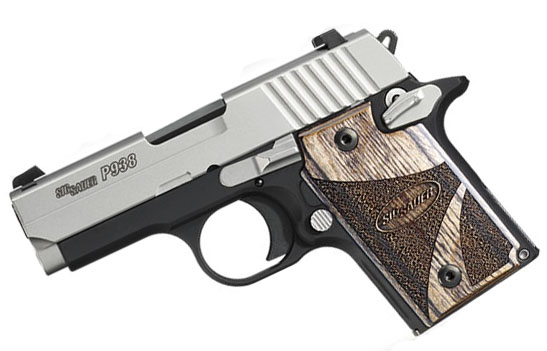 Sig Sauer P938 9mm, Night Sights, Blackwood