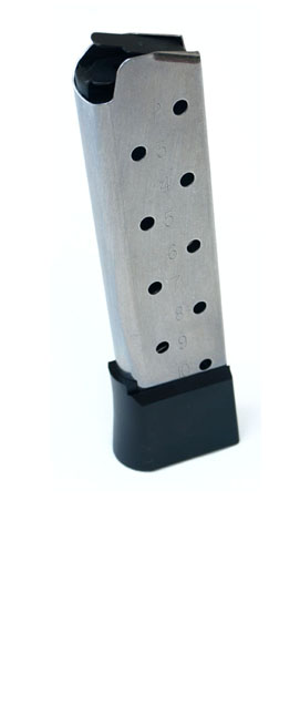 Check-Mate .45ACP, 10RD, SS, Hybrid, Removable Base -Full Size 1911 Magazine