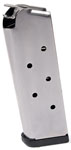 Check-Mate .45ACP, 6RD Compact, SS, Removable Base - Officer's Size 1911 Magazine