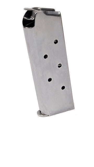 Check-Mate .45ACP, 6RD Compact, SS - Officer's Size 1911 Magazine