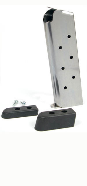 Check-Mate .45ACP, 8RD, SS, Bumper Pads - Full Size 1911 Magazine