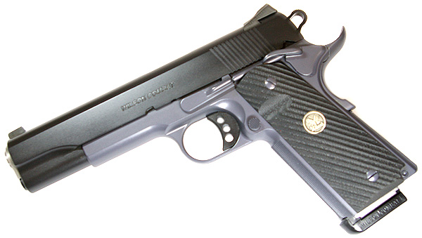 Wilson Combat CQB .45ACP, Ambi Safety, No Front Cocking Serrations, Black/Grey Armor Tuff